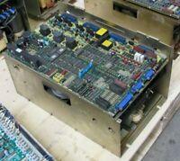 FANUC AC SPINDLE SERVO UNIT A06B-6055-H106, W/ TOP BOARD A20B-1001-0120 04B