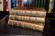 1686 3 Volume Full Leather LA LITURGIE SACREE Catholic Mass ANTIQUE Christianity