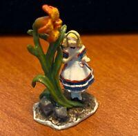 """Goebel Miniatures of Robert Olszewski """"Alice in the Garden"""" #37012 New in Box"""