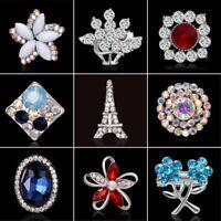 Rhinestone Crystal Flower Wedding Bridal Bouquet Enamel Brooch Pin Jewelry Gift