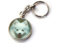 JAPANESE SPITZ Dog Puppy Quality Chrome Keyring Picture Both Sides