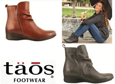 Taos Footwear Leather ankle Comfort Boots with zip  - Taos Shoes Elite