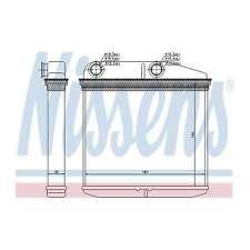 Fits Vauxhall Corsa MK3 1.4 Nissens Heat Exchanger Interior Heater Matrix