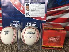 Justus Sheffield NY Yankees 2018 FUTURES Baseball OMLB Signed Autographed