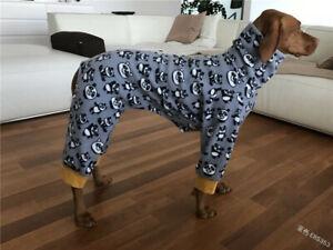 Winter Warm High Collar Pet Dog Print Coat Four Legged Suit Jacket Puppy Clothes