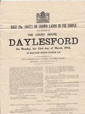 Daylesford Victoria 1942 sale of crown land notice at courthouse Bendigo