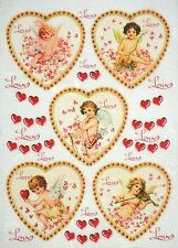 Carta di riso-VINTAGE Angels AMA-Per Decoupage Decopatch Scrapbook Craft sheet