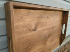 Primitive Country  Stove Cover Noodle Board Hand Crafted Walnut Stain wood NEW