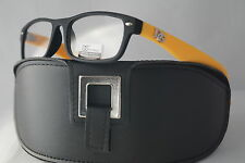 DG READING GLASSES OPTICAL QUALITY NEW 2015 YELLOW POWER: +1.25 + BLACK CASE *9