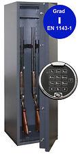 Waffenschrank Grad 1 EN 1143-1 Waffentresor Gun Safe 1-5 mit Zahlenschloss