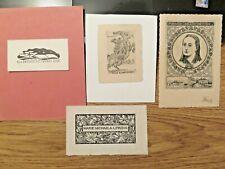 More details for    four vintage ex libris incl.1906  by sassy attila/1880-1967/