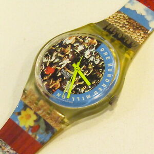 "Vintage SWATCH Watch ""The People"" GZ126 Gent 1992 Celebration *NEEDS BATTERY*"