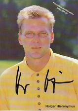 Holger Hieronymus-ex. Deutscher los jugadores de fútbol - 121 juegos HSV - 3 dfb LSP