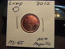 CANADA ONE CENT 2012 Lump on 0, MS- +++++! Full RED!
