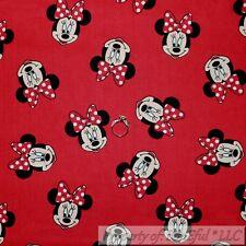 BonEful FABRIC Cotton Quilt Red White Dot B&W Minnie Mouse Disney Girl VTG SCRAP