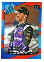 2018 Panini Donruss Racing RATED ROOKIE #27 BUBBA WALLACE RC Rookie NASCAR
