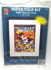 "Mickey Mouse paper tole kit at the circus 9"" x 12"" #91239 Laila's inc"