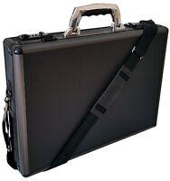 Hard Aluminium Briefcase Executive Laptop Bag Travel Flight Pilot Carry Case UK