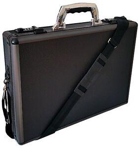 Hard Aluminium Handle Executive Briefcase Laptop Travel Flight Pilot Carry Case