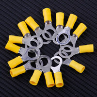 """40x Ring Insulated Terminal Connectors 12-10 AWG Gauge 3/8"""" Wire Crimp RV5.5-10"""