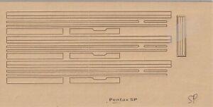 PENTAX SP/SPII/SPF/K1000 PRE-CUT REPLACEMENT LIGHT SEALS