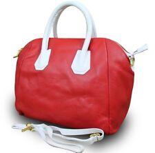 LEDER Handtasche Schulter Tasche Nappaleder Ledertasche Made in ITALY Rot