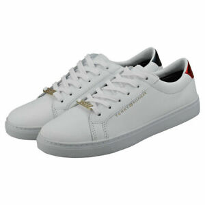 Tommy Hilfiger Womens Essential Sneakers Shoes Trainers White Lifestyle New