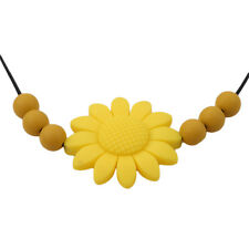 Flower Pendant Teething Necklace Baby Silicone Chew Teether Autism Sensory Toy H