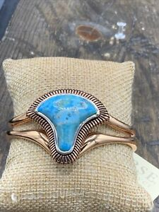 Barse Trinidad Cuff Bracelet- Turquoise- Copper & Sterling Silver- NWT