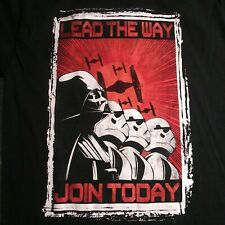 "Star Wars ""Lead the Way Join Today"" Darth Vader Storm Troopers Dark Side T-Shirt"