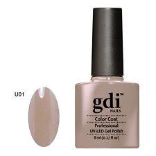 GDI NAILS - U01 LIGHT MINK CHOC - SUBTLE NUDE - UV LED GEL NAIL POLISH VARNISH