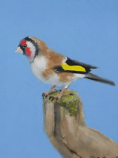 "Signed Original Print of ""European Goldfinch"" by Gordon Bell"
