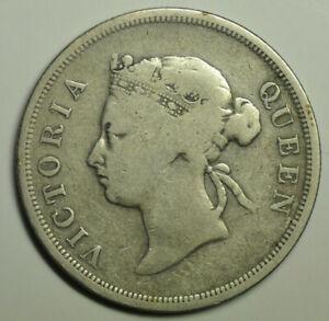 mw17538 Straits Settlements; Silver 50 Cents 1896 Victoria Mintage:120,000 KM#13