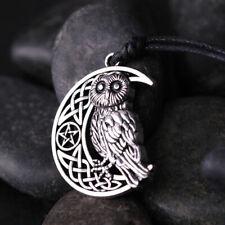 Owl Moon Crescent Star Necklace Pendant Celtic Knot Pentagram Amulet Talisman