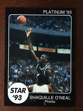 1993 Star Platinum Shaquille O'Neal Rookie LSU Promo Card RC ONLY 150 MADE RARE