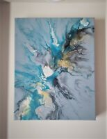 "Original Abstract Modern Acrylic Painting on Canvas-Home Décor/Wall Art 11""x14"""