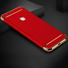 Cell Phone Case Protective for Huawei P9 Lite Bumper 3 in 1 Cover Chrome Red