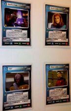 1994 STAR TREK WHITE BORDER COLLECTIBLE CARD GAME LOT  WORF LA FORGE 2 CRUSHERs
