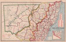 Nueva Gales del Sur. divisiones territoriales tierra Board distritos. MacDonald 1888 Mapa