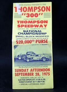 THOMPSON Speedway Thompson 300 Small Block 1975 National Championship Brochure