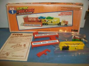 CLEAN VINTAGE TYCO US 1 TRUCKING OPERATING AUTO LOADER STATION HO SCALE