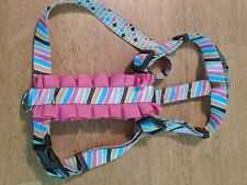 New listing Pink Frilly Medium Dog Matching Harness and Leash