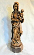 tolle Skulptur: MADONNA MIT KIND - sehr guter Zustand & 59 cm hoch inkl. Sockel