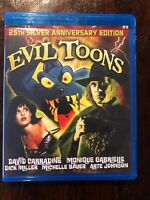 EVIL TOONS (1992) - BLU-RAY - SIGNED BY DIRECTOR FRED OLEN RAY - OOP RARE - NEW