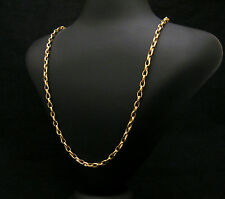 HANDMADE CHAIN 18KT SOLID GOLD HAMMERED V HEAVY 48.50 GRAMS TOP QUALITY JOLLER