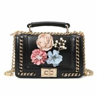 Women 3D Floral Mini Handbags Ladies Famous Luxury Chain Shoulder Bag Female New