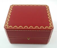 CARTIER Paris Uhren watch Box rot red original old stock Lagerware TOP /19