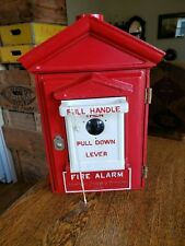 Rare Antique northern electric SMALL fire alarm Telegraph Station Box & key