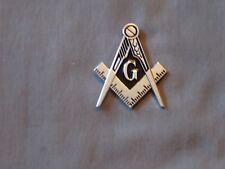 "Masonic 2"" Car Emblem Master Mason Cut Out Square Compass Metal Fraternity NEW!"