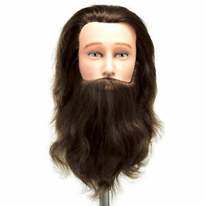 Celebrity Mr. Sam Barber Cosmetology Male Human Hair Manikin with Beard